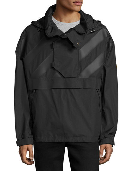 Moncler Donville Wind-Resistant Jacket, Black