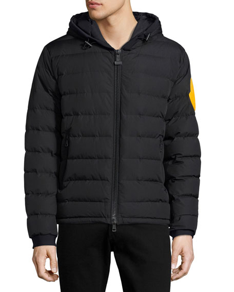 Moncler Dinard Hooded Puffer Jacket, Black