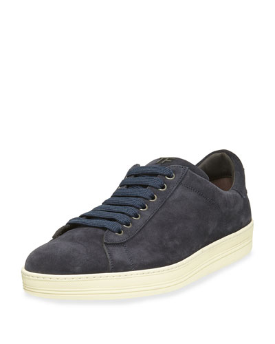 Russell Suede Low-Top Sneaker, Navy
