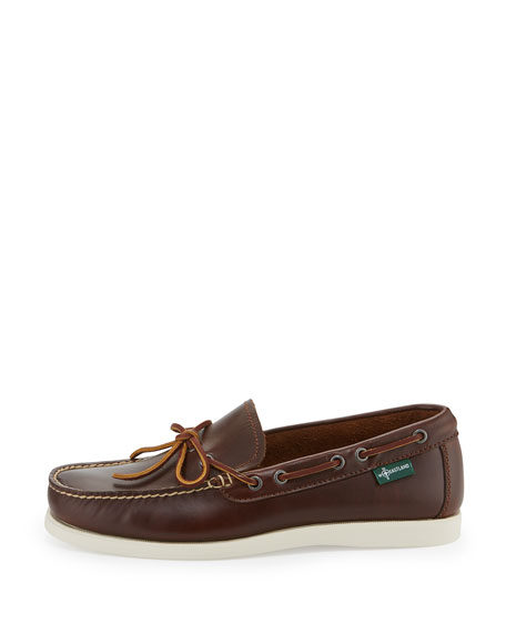 Yarmouth 1955 One-Eye Camp Moc Slip-On Shoe, Dark Brown