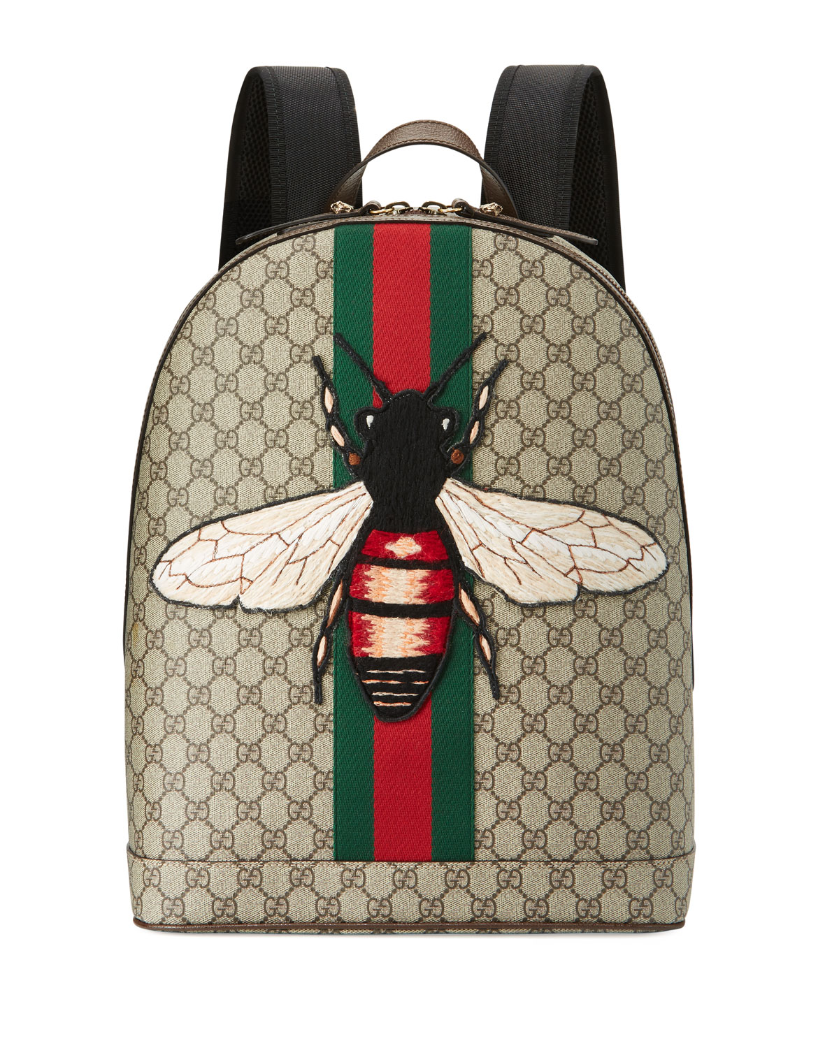 9d522a347908 Gucci Men s Web Animalier Backpack with Bee