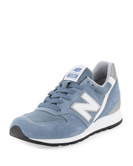 New Balance996 Age of Exploration Suede-Mesh Sneaker, Blue
