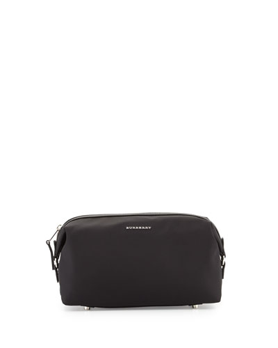 Lance London Nylon Toiletry Bag, Black