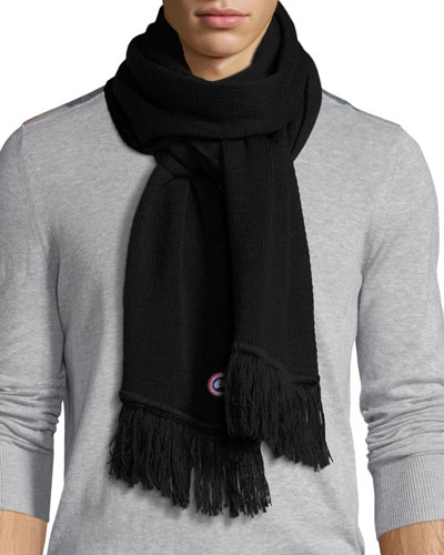 Men's Merino Wool Fringed Scarf
