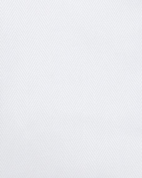 Neiman Marcus Tonal-Herringbone Twill Dress Shirt