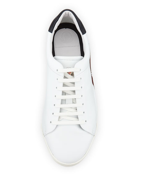 Remi Perforated Leather Tennis Sneaker, White