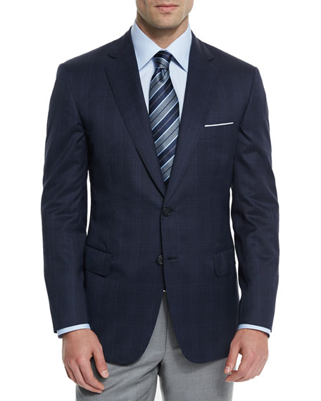 Brioni Colosseo Plaid Two-Button Sport Coat