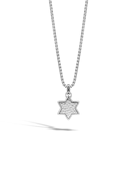 John Hardy Men's Star of David Pendant Necklace