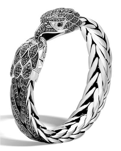 Men's Batu Legends Eagle Bracelet with Black Sapphires