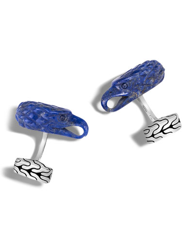Men's Batu Legends Lapis Lazuli Eagle Head Cuff Links