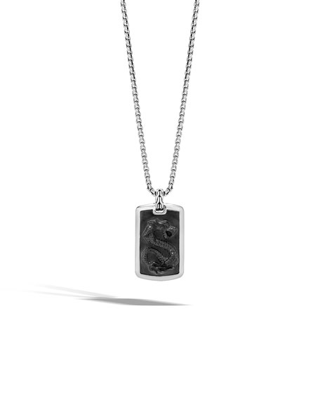 John Hardy Men's Batu Dragon Dog Tag Necklace