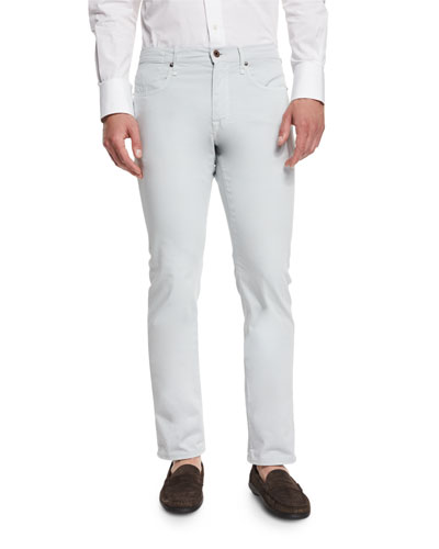 Ray Regular-Fit Five-Pocket Pants, Ice Gray