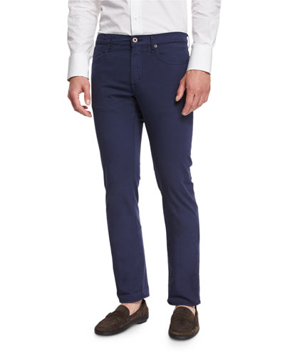 Ray Regular-Fit Five-Pocket Pants, Navy
