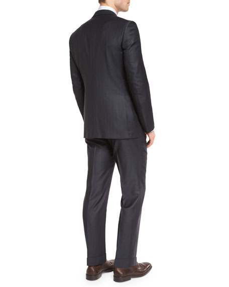 Graffiato Trofeo Wool Two-Piece Suit, Charcoal