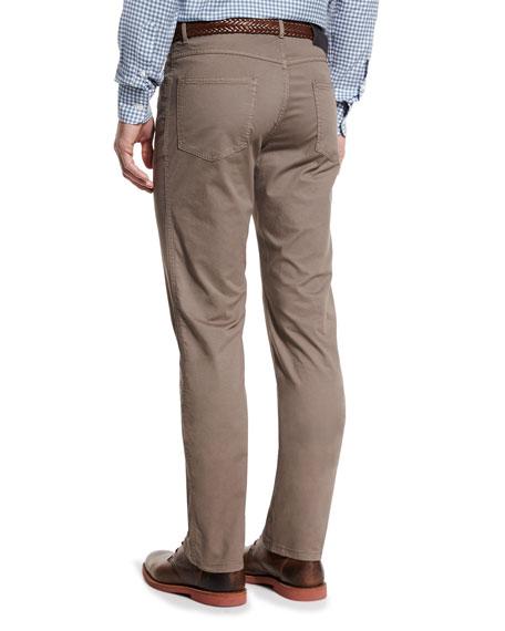 Five-Pocket Twill Pants, Khaki