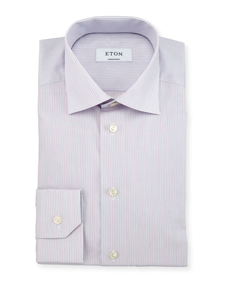 Eton Contemporary-Fit Micro-Striped Woven Dress Shirt, Light