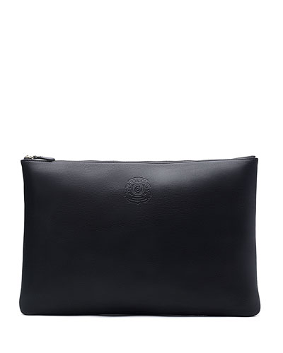 No.65 Large Leather Document Pouch, Black