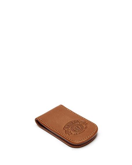 Ghurka Magnetic Leather Money Clip, Chestnut