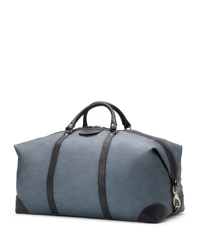 Cavalier III No. 98 Large Leather Duffel Bag, Blue