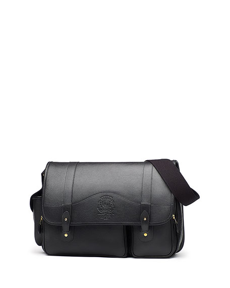 GhurkaFielding No. 137 Leather Messenger Bag, Vintage Black
