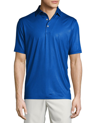 Twilight Pin-Dot Performance Polo Shirt, York Blue