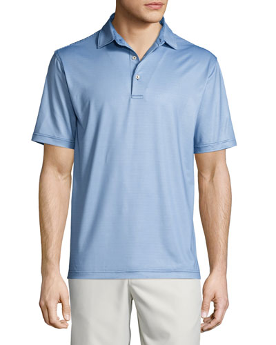 Tidecrest Houndstooth Performance Polo Shirt, Midnight