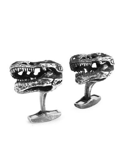 Sterling Silver T-Rex Cuff Links