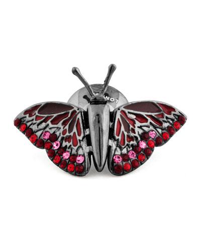 Mechanical Butterfly Lapel Pin