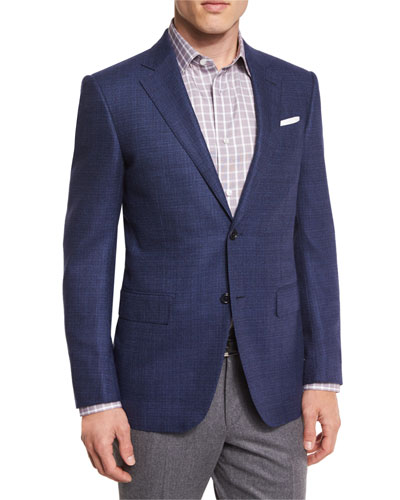 Tic Wool Two-Button Sport Coat, Navy