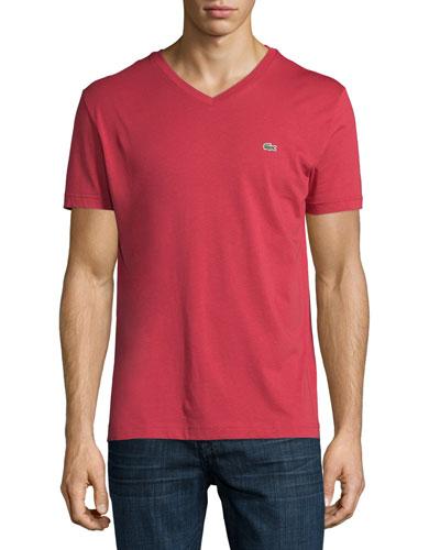 Pima Jersey V-Neck T-Shirt, Intense