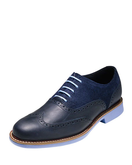Cole Haan Great Jones Leather & Suede Wing-Tip