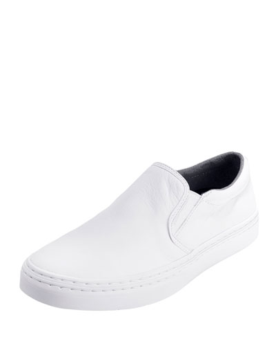 Falmouth Grand.OS Leather 2-Gore Slip-On Sneaker, White