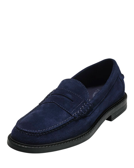 Cole Haan Pinch Campus Suede Penny Loafer, Navy