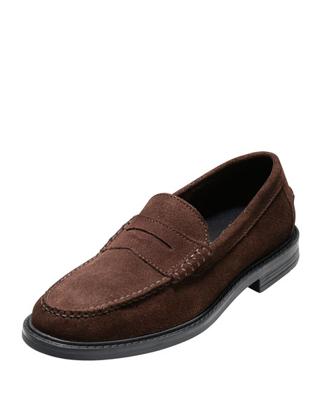 Cole Haan Pinch Campus Suede Penny Loafer, Brown