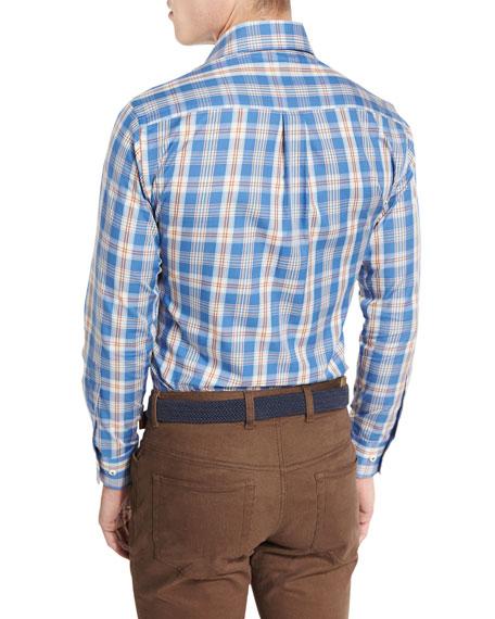 Teton Plaid Oxford Shirt, Hawaiian Blue