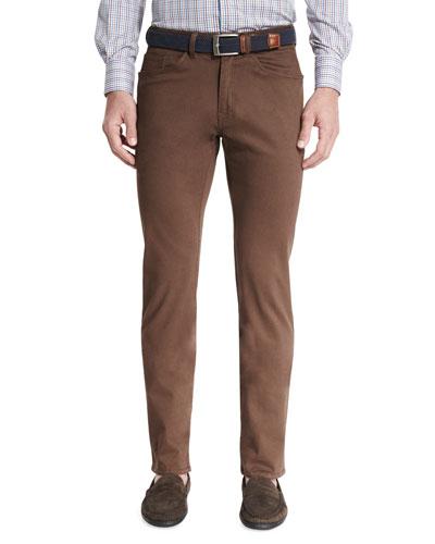 Bedford Five-Pocket Pants, Bison