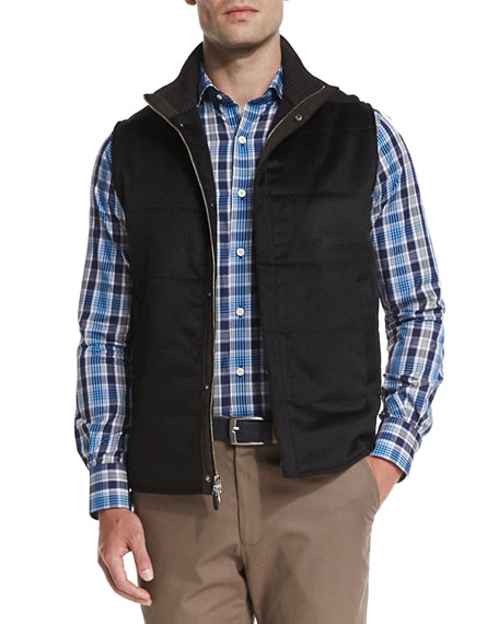 Peter Millar Greenwich Wool-Cashmere Quilted Vest, Black : peter millar quilted vest - Adamdwight.com