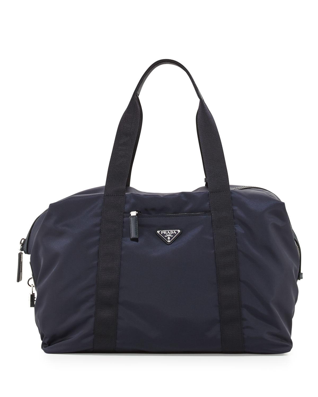 03449f2f58e2 Prada Men s Nylon   Saffiano Duffel Bag ...
