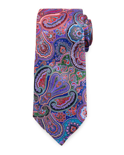 Quindici Paisley Tie, Purple