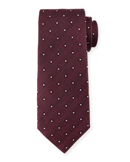 Diamond-Print Neat Tie