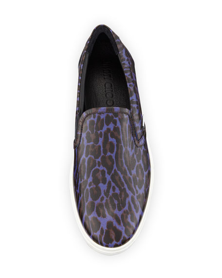 Grove Men's Leopard-Print Slip-On Sneaker
