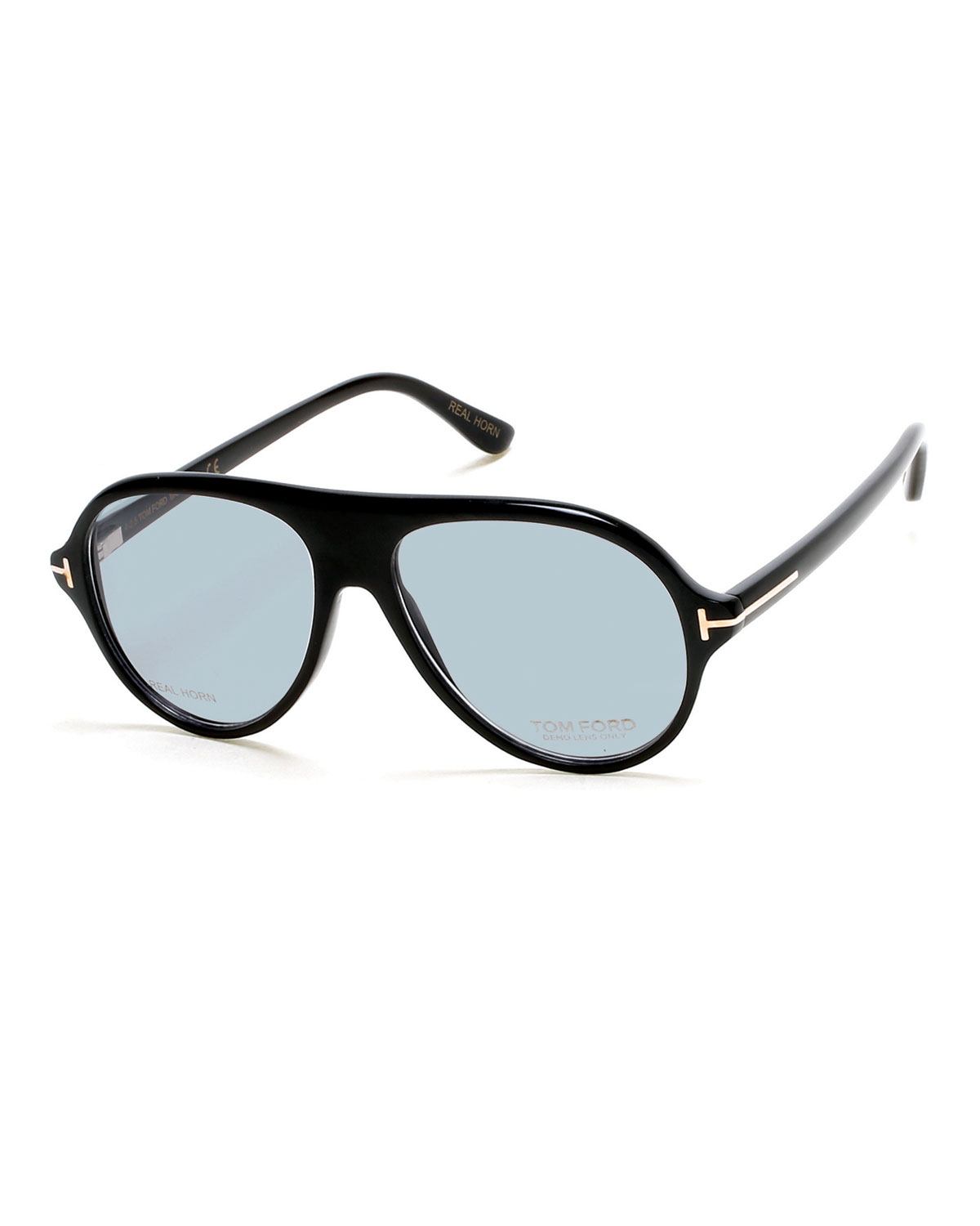 02a014b0aae7 TOM FORD Tom N.1 Private Collection Real Horn Aviator Optical Frames ...