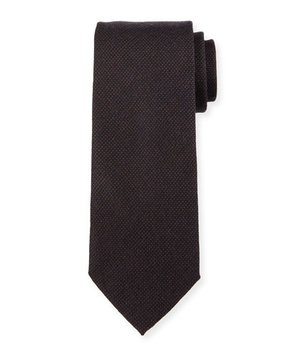 Woven Tone-on-Tone Dot Silk Tie