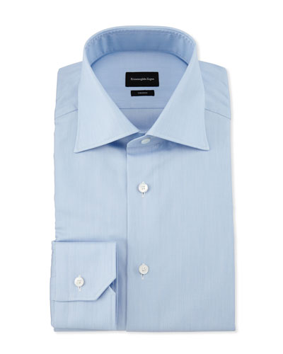 Slim-Fit Solid Trofeo Dress Shirt, Blue