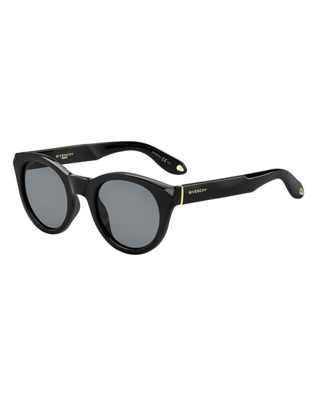 GIVENCHY ROUNDED SQUARE SUNGLASSES, BLACK