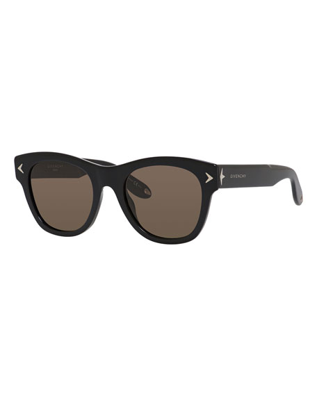 Givenchy Square Acetate Sunglasses, Black