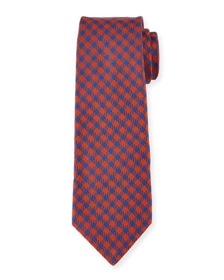 Woven Check Silk Tie
