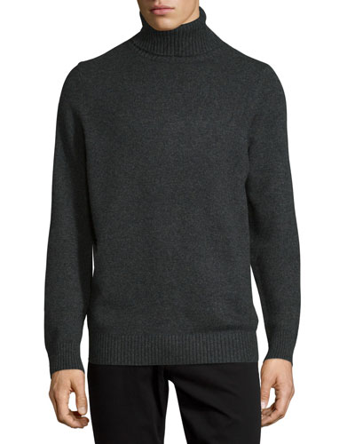 Chunky Wool/Cashmere-Blend Turtleneck Sweater