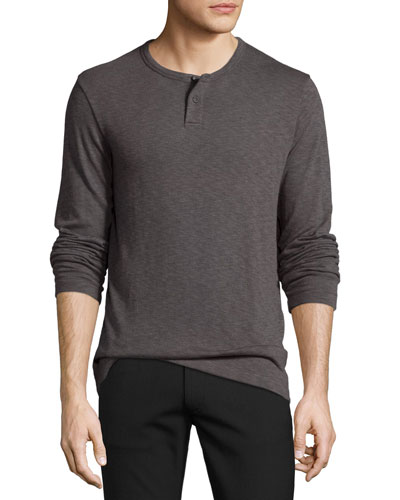 Gaskell Jersey Henley T-Shirt, Night