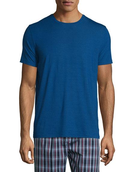Derek Rose Short-Sleeve Jersey T-Shirt, Blue & Plaid
